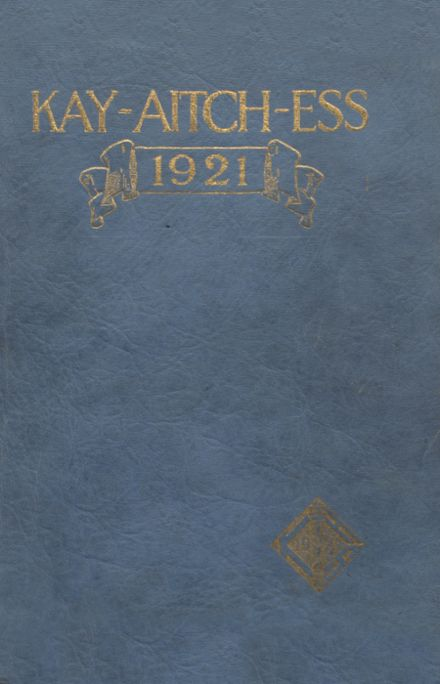 1921 Kendallville High School Yearbook Cover