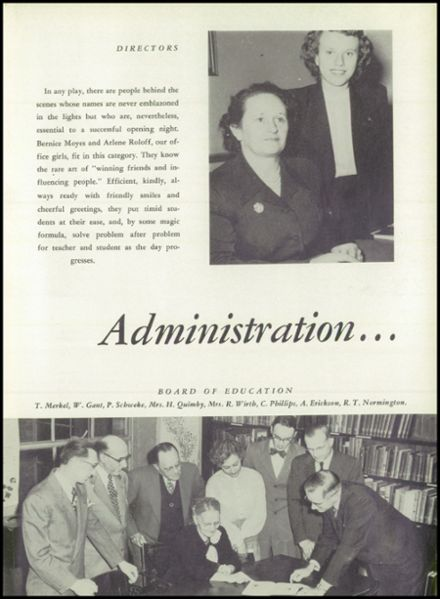 1952 Reedsburg High School Yearbook Page 9