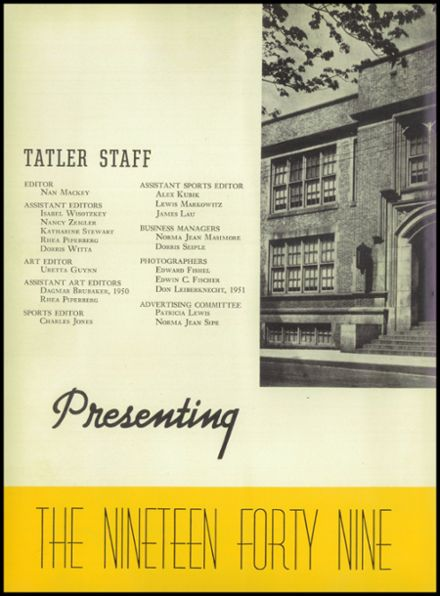 1949 William Penn High School Yearbook Page 6