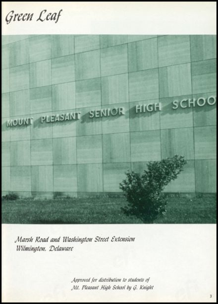 1961 Mt. Pleasant High School Yearbook Page 7