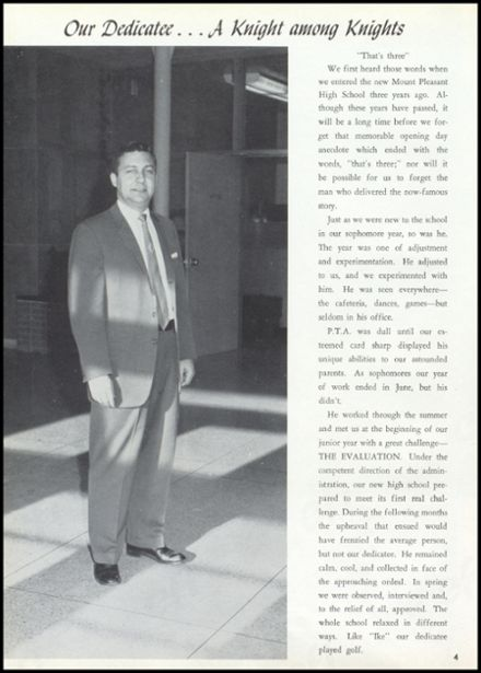 1961 Mt. Pleasant High School Yearbook Page 8