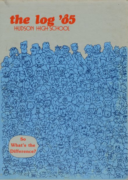 1985 Hudson High School Yearbook Cover