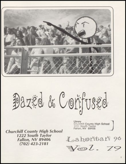1996 Churchill County High School Yearbook Page 5