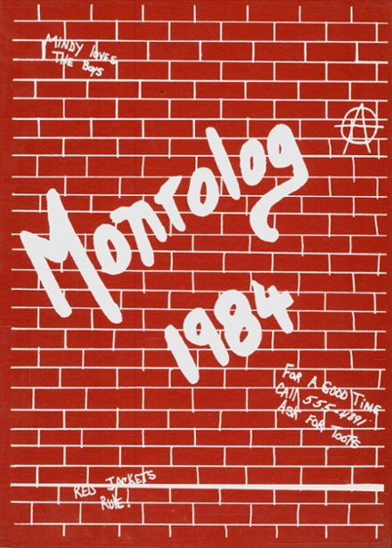 1984 Monroe High School Yearbook Cover