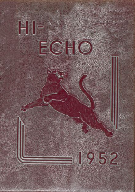 1952 Bowling Green High School Yearbook Cover