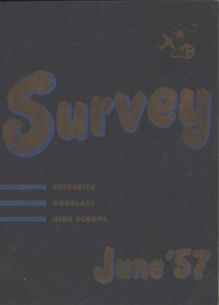 1957 Frederick Douglass High School 450 Yearbook Cover