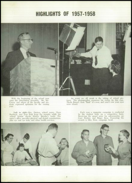 1958 Marion Center Area High School Yearbook Page 8