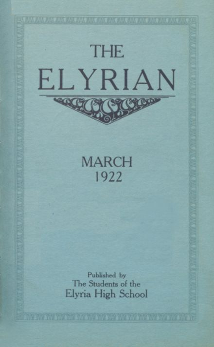 1922 Elyria High School Yearbook Cover