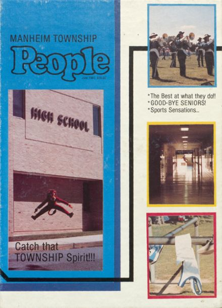 1985 Manheim Township High School Yearbook Cover
