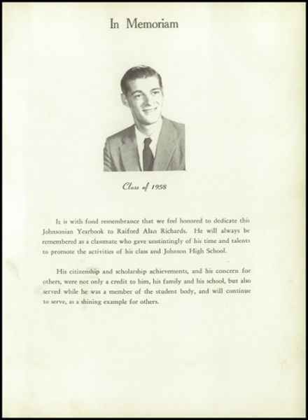 1960 Johnson High School Yearbook Page 5