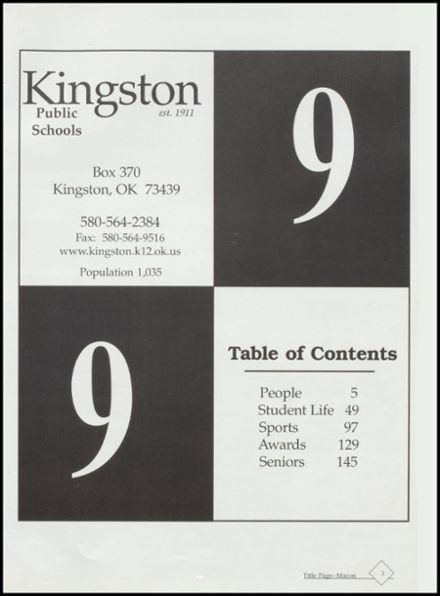 1999 Kingston High School Yearbook Page 5