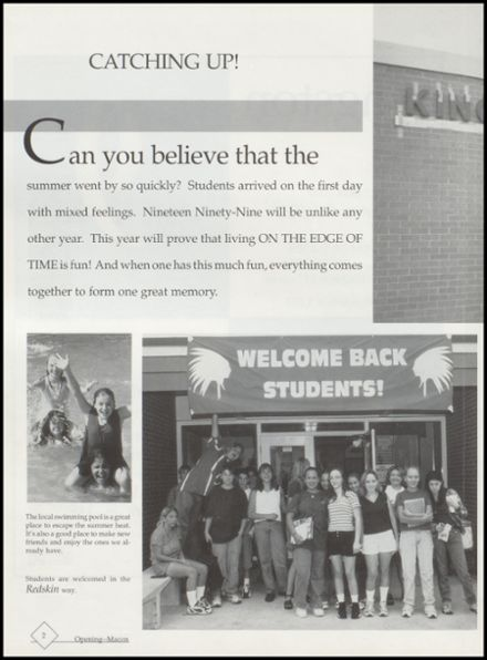 1999 Kingston High School Yearbook Page 6