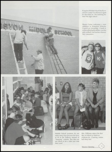 1999 Kingston High School Yearbook Page 7