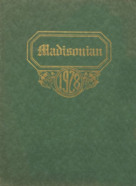 1928 Madison High School Yearbook Cover