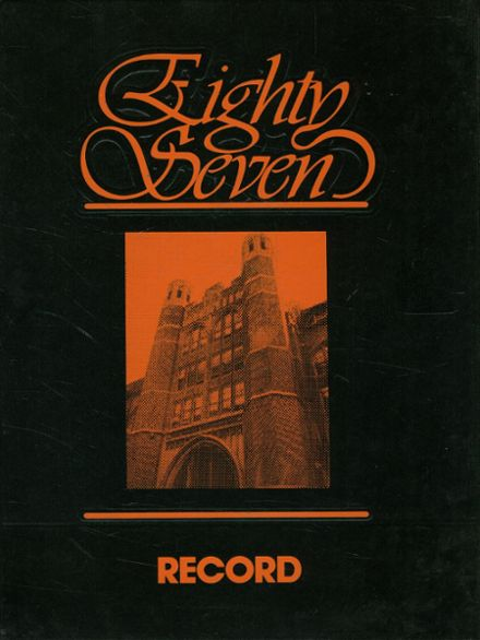 1987 Overbrook High School Yearbook Cover