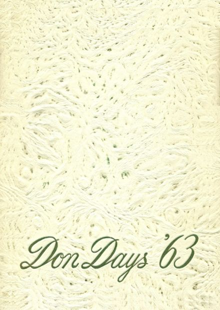 1963 Amador Valley High School Yearbook Cover