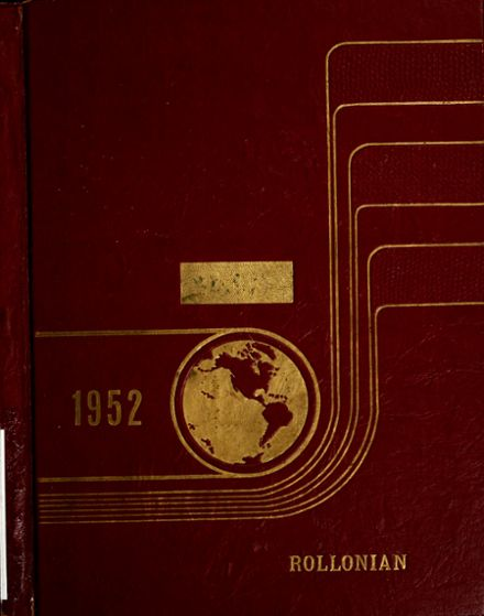 1952 Roll High School Yearbook Cover
