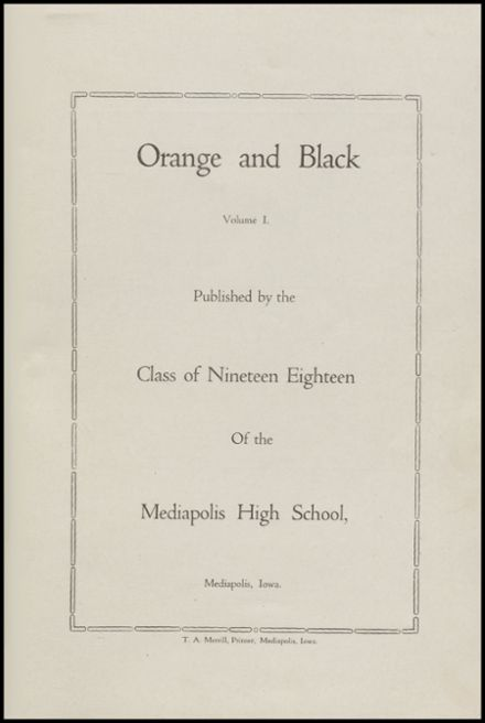 1918 Mediapolis High School Yearbook Page 3