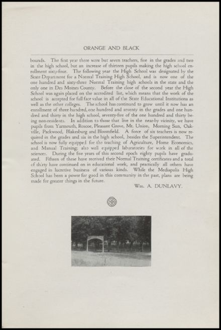1918 Mediapolis High School Yearbook Page 7