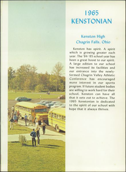 1965 Kenston High School Yearbook Page 5