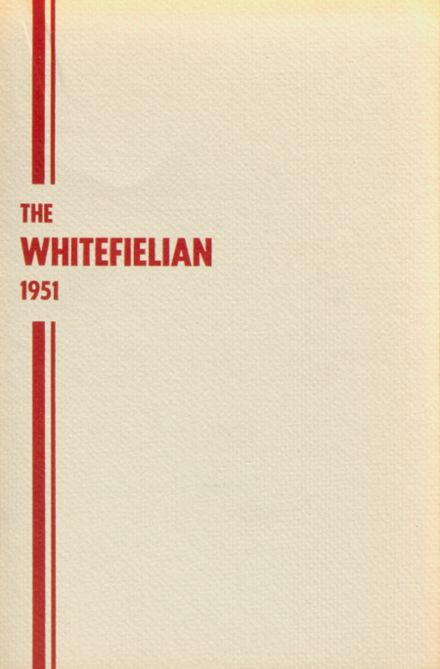 1951 Whitefield High School Yearbook Cover