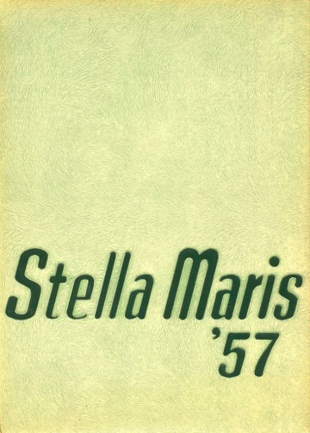 1957 Mary Star of the Sea High School Yearbook Cover