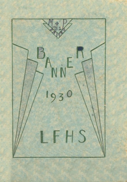 1930 Livermore Falls High School Yearbook Cover