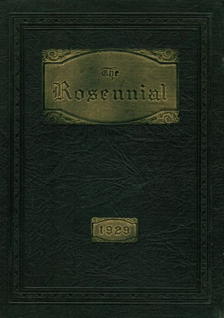 1929 New Castle High School Yearbook Cover