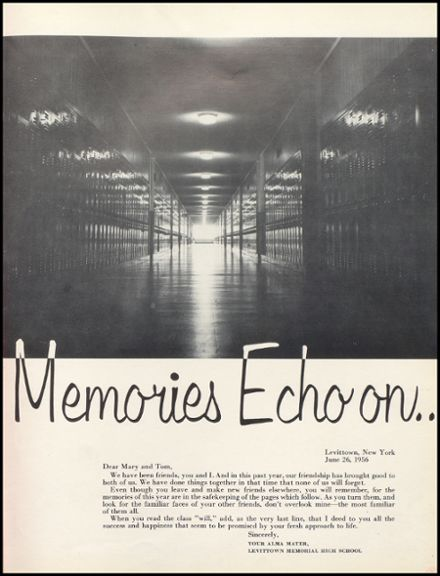 1956 Levittown Memorial High School Yearbook Page 5
