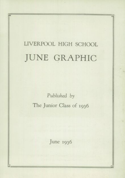 1936 Liverpool High School Yearbook Page 3