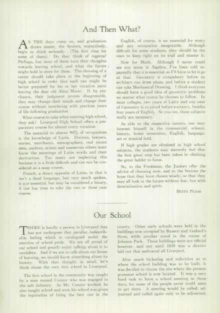 1936 Liverpool High School Yearbook Page 6