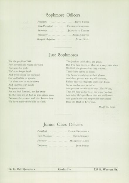 1936 Liverpool High School Yearbook Page 9