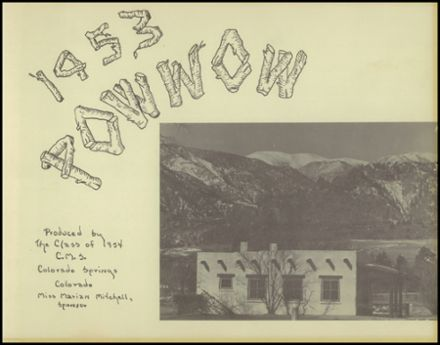 1953 Cheyenne Mountain High School Yearbook Cover