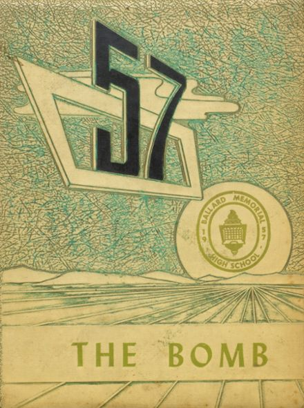1957 Ballard Memorial High School Yearbook Cover