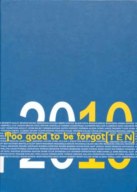 2010 Harrison High School Yearbook Cover