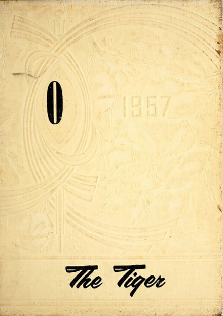 1957 Orland High School Yearbook Cover