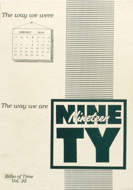 1990 Ottoville High School Yearbook Cover