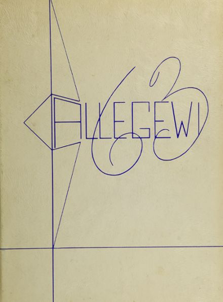 1963 Allegany High School Yearbook Cover