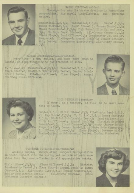 1951 Ridgeville High School Yearbook Page 7