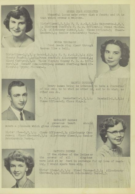 1951 Ridgeville High School Yearbook Page 9