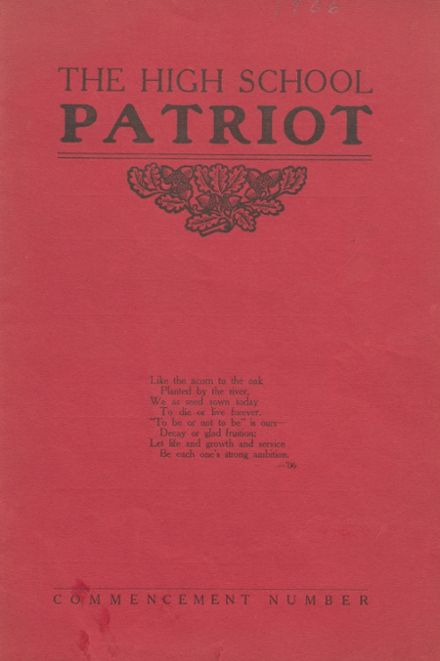 1906 Seymour High School Yearbook Cover