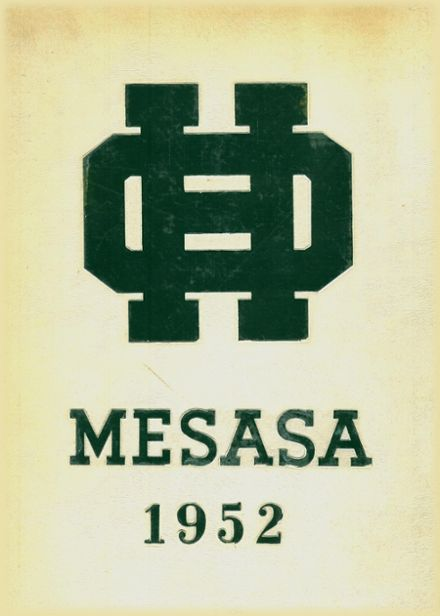 1952 Ottawa Hills High School Yearbook Cover
