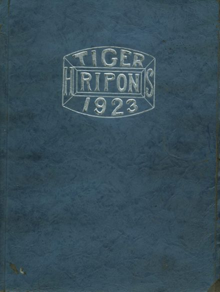 1923 Ripon High School Yearbook Page 1