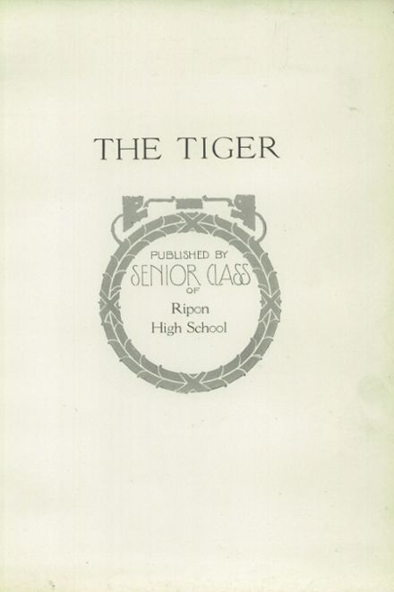 1923 Ripon High School Yearbook Page 5