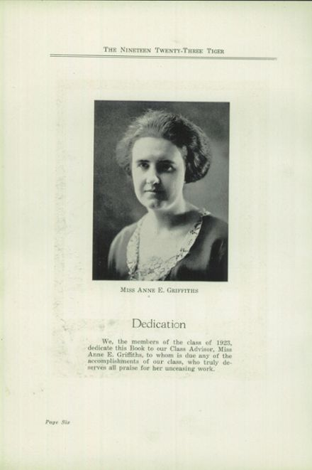 1923 Ripon High School Yearbook Page 8