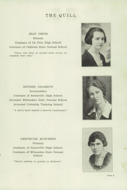 1922 Reeseville High School Yearbook Page 7