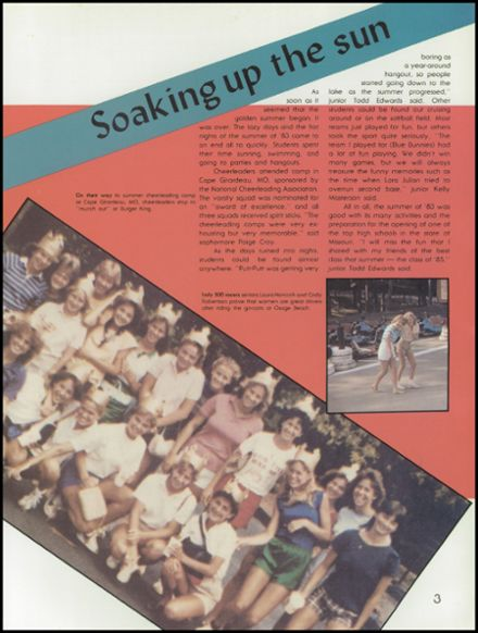 1984 Kickapoo High School Yearbook Page 7