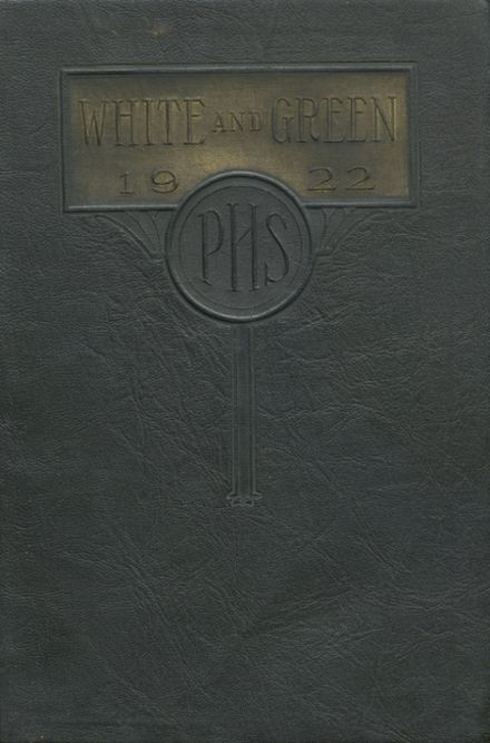 1922 Provo High School Yearbook Cover