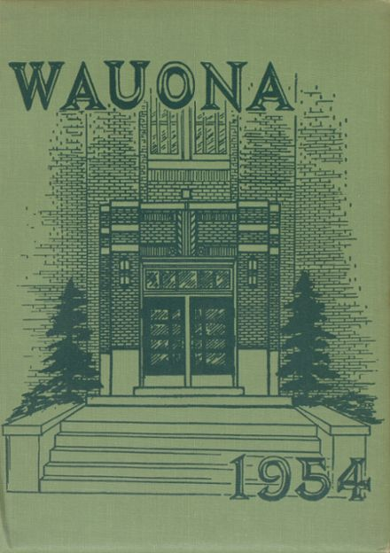 1954 Portage High School Yearbook Cover