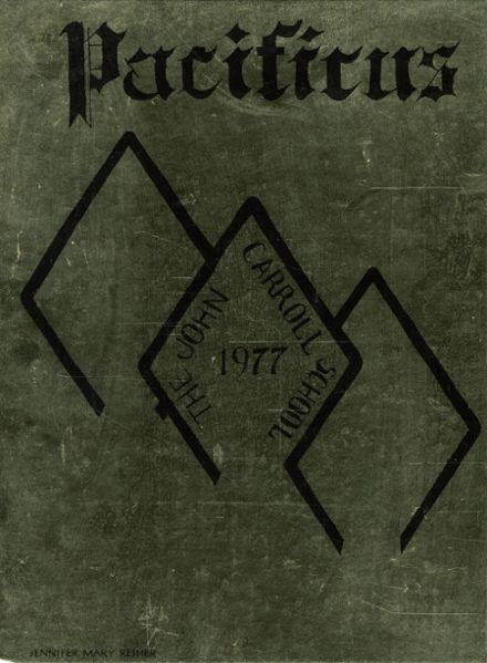 1977 John Carroll High School Yearbook Cover